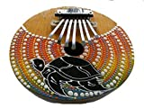 Brightly Hand Painted Coconut Kalimba / Thumb Piano / Mbira/ Karimba - Beautiful Sound, Fair Trade