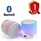 Vancuver Wireless LED Bluetooth Speaker with Disco Lights USB Plug & Play Fm Radio Microsd Slot MP3 Player Portable Car Audio Player