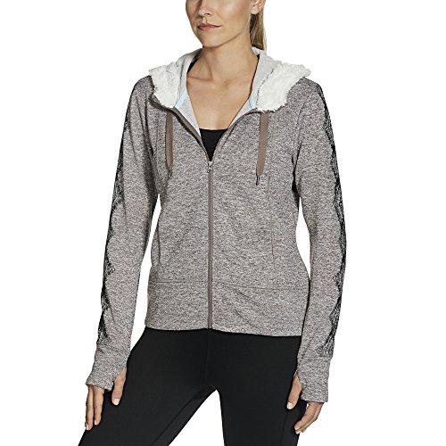 Gaiam Apparel Damen Aurora Fleece Jacke, Damen, Stahl, X-Large Aurora Fleece