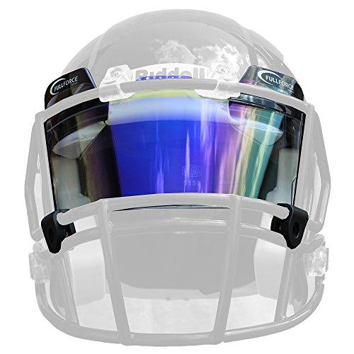Full Force Helmvisier/Eyeshield Multicolor, Farbig getönt, Leicht Gespiegelt - Blau/Multicolor
