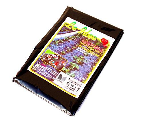 Inconnu Sunflower 040252 Bâche de paillage, 10 x 1 m, Noir