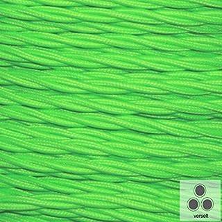 Textilkabel Stoffkabel Neon Grün , 3-adrig verseilt