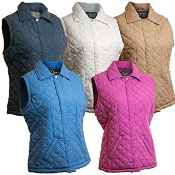 Dales Collection Ladies Henrietta Diamond Quilted Gilet - Sesame - Size 16