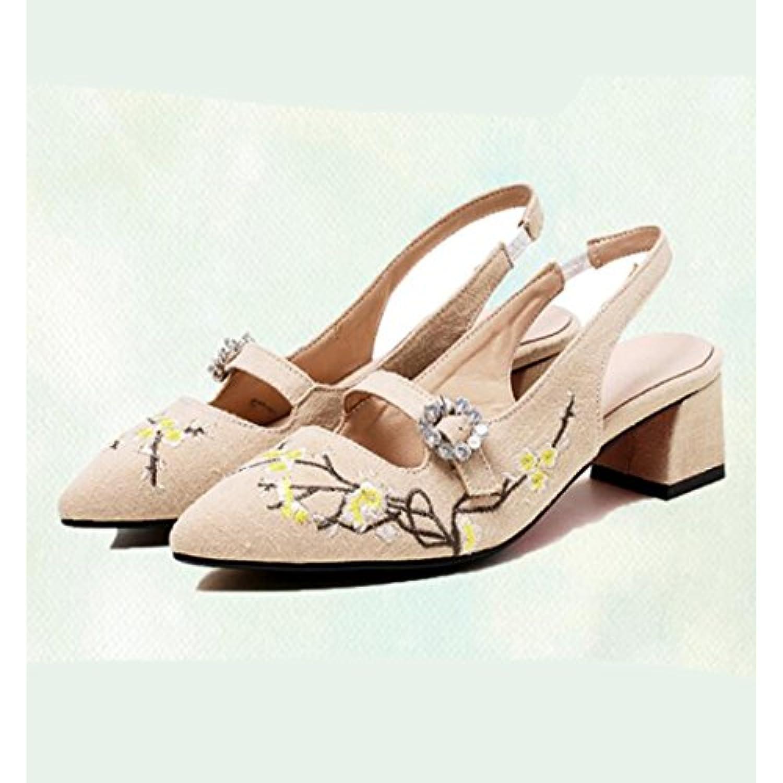 GTVERNH-De La Litt L'Art eacute;rature Et De L'Art Litt R eacute;tro Des Chaussures De Femme Summer Forte T ecirc;te Eau Exercice 4 Cm - B07BVTNXD3 - fccdb6