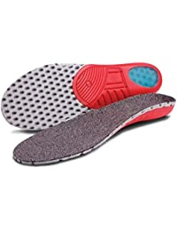 Healix para el cuidado de tacto suave plantillas para calzado   De peso ligero   De choque de absorción de impactos de silicona prevenir ampollas en el talón enchufe con conexión a tierra Large (UK 9-10   EU 42 - 44.5)