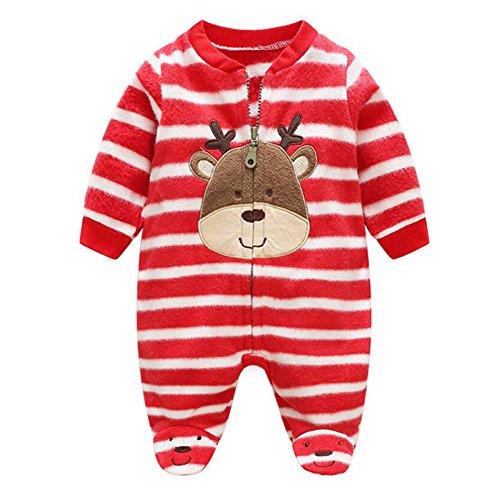 MEIHAOWEI Baby Strampler Warme Fleece Kleidung Set für Jungen Cartoon Affe Infant Mädchen Kleidung Neugeborenen Overalls Baby Overall (Lustig Langarm Affe)