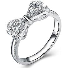 YXYP Impression 1 PCS Anillos Anillo de lazo Anillo de diamantes de Moda Anillo de Cristal