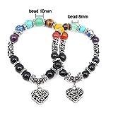 Pendentif Coeur Chakra Bracelets pour Unisexe Bracciale Uomo Tiger Eye Bracelet en Pierre Naturelle Charme Bracelet Hommes Hombre Cadeau