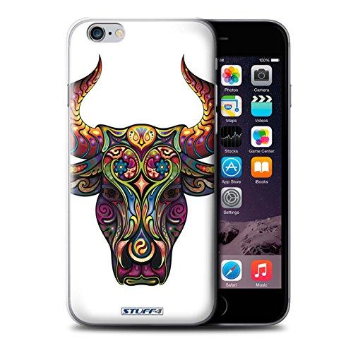 Stuff4 Hülle / Case für Apple iPhone 7 Plus / Schmetterling Muster / Deko-Tiere Kollektion Stier