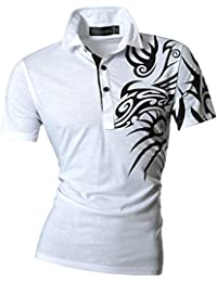 jeansian Homme Slim Fit Polos Short Sleeved Casual Tee T-Shirt U012