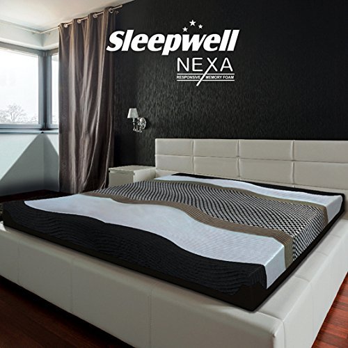 Sleepwell Nexa Mattress, 84 x 72 x 8 Inches, Off-White