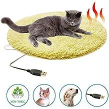 iBàste 40cm40cm 1cm Almohadilla Térmica para Mascotas Calefacción USB Cojín de Felpa Adecuado para Viajes o