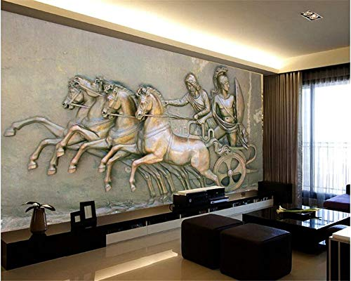 Bronze Parfüm (MuralXW Tapetenwandbild High-End-Mode Interieur 3D-Tapete aus hochwertiger Bronze geschnitzten Schlafzimmer Wohnzimmer Hintergrund Wand-200x140cm)