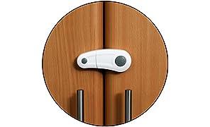 Safe-O-Kid Elegant Child Safety Cabinet Lock, White (Pack of 2)