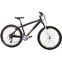 '26Pollici Alu leader Fox Dirt Bike bicicletta Shimano 21marce RST 100mm Nero