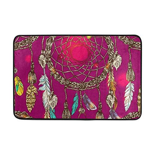 ALAZA Atrapasueños indio tribal Felpudo 15,7 x 23,6 pulgadas, Salón Dormitorio Cocina Baño decorativo ligero de espuma Impreso Alfombra