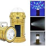 Solar Camping Laterne zusammenklappbare LED Party Licht RebirthTree tragbare Taschenlampe wiederaufladbare Solar Power Bank für Handy Tablette Outdoor Trekking Wandern Zelt Fischen USB Kabel gehören