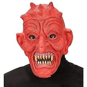 WIDMANN vd-wdm1335d Máscara Diablo, rojo, talla única