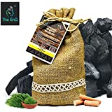 The EnQ Activated Charcoal Organic Facial Kit || Instant Radiance Shine And Youthful Glow Facial Kit || Paraben Free Sulfate Free || 100% Ayurvedic || 280 Gms with Reusable Cosmetic Bottles ||