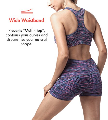 Lapasa Short Sport femme Yoga Fitness Running Gym élastique Stretch Gaine  Large. fcc011191fb