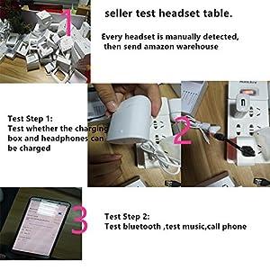 Écouteurs bluetooth airpods sans fil, casque audio avec station de recharge (Blanc)