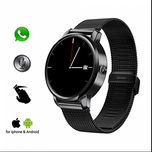 Smartwatches sport Uhr Handy Uhr Intelligent Uhr Speicherplatz für Musik Sleep Monitor langlebige Batterie Pedometer kapazitiven Touchscreen mit Berührungsbildschirm Fitness und Leben wasserdicht für Android und IOS
