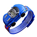 Jungen Uhren Kinder Student Armbanduhr Auto Kinder Uhren Jungen Mädchen Uhr Kind Digital Armbanduhr Elektronische Armbanduhr für Jungen Mädchen, Blau