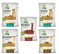 NutraHi Gluten Free Spaghetti Combo - 2 x Quinoa, 2 x Multigrain and 1 x Beetroot - 84gm Each