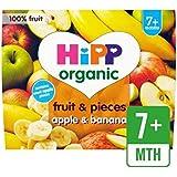 Hipp Fruits Bio Et Morceaux De Pomme Et La Banane 4 X 100G - Paquet de 6