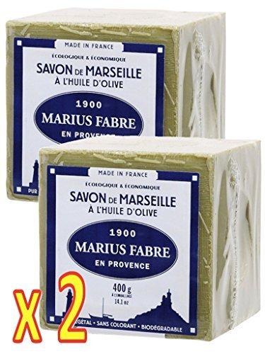 Marius Fabre 'Le Lavoir': 2x 400g echte Marseiller Kernseife aus 72% Olivenöl (Würfelseife)