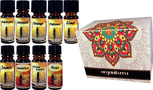 Scheda dettagliata Set di 9 oli per l'aromaterapia. Sentimenti essenziali. Pack assortiti