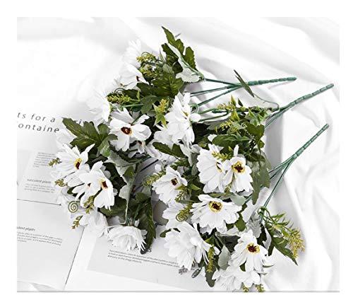 MSSZH Künstliche Blume Getrocknete Blumensträuße Dekoriert Wohnzimmer Zu Hause Hochzeit Garten Party Topfpflanzen, Persische Weiße Haufen (Vier,30Cm) - Persischen Garten Blumen