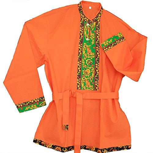 (Russisches Hemd 'Kosakenhemd Hochloma' Orange (L))