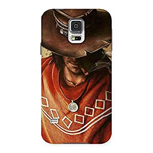 Impressive Cowboy Multicolor Back Case Cover for Samsung Galaxy S5