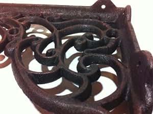 winkel wandhalterung eisen antik rustikal f r regalbretter regalwinkel metall antik gusseisen. Black Bedroom Furniture Sets. Home Design Ideas