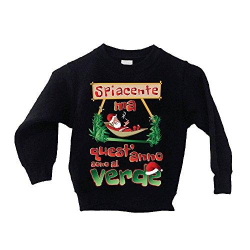 Altra Marca T-Shirt Bimbo Natalizia Personalizzata Babbo Natale Ricercato Maglietta Bambino Idea Regalo Giochi d'imitazione Cucina