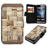 Book Style LG L90 Premium PU-Leder Tasche Flip Brieftasche Handy Hülle mit Kartenfächer für LG L90 - Design Flip SB40