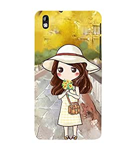 Vizagbeats Animated Girl Back Case Cover for HTC Desire 816::HTC Desire 816 G