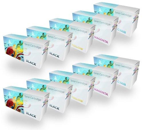 Prestige Cartridge Set 10 Toner kompatibel zu Xerox Phaser 7100 (106R02605 5.000 Seiten 106R02599 106R02600 106R02601 4.500 Seiten) - SCHWARZ(x4)/Cyan(x2)/Magenta(x2)/GELB(x2) -