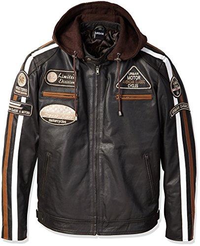 talla XL Bikers Gear Australia Limited color negro y blanco Camiseta de franela con forro de aramida para motocicleta Kevlar