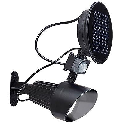 Automatischer Solar-LED-Spot mit PIR-Bewegungsmelder & 1 Watt-LED