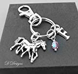 Horse and Foal Bag Charm Personalised Keyring