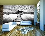 Fototapete selbstklebend Tropischer Fluss mit Steg -