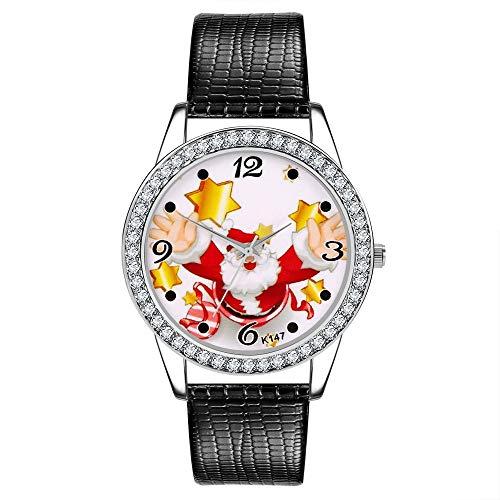 TianWlio Armbanduhren Damen Mode Frauen Watch Christmas Leder Band Analog Quarz Vogue Armbanduhren Geschenk
