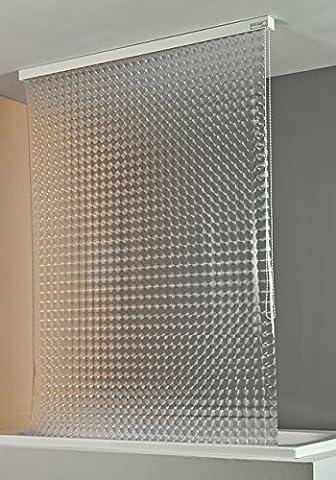 ECO-DuR 4024879002510 Kassetten Duschrollo 134 cm weiß -