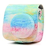 #1: Brighten Your Eyes Store Flamingo Pu Pouch Camera Bags with Strap Protector Cover Fujib009