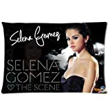 Selena Gomez Signed Poster Pillowcase, Colorful Throw Pillow Case (one side) Customized Home Fashion Zippered Pillowcase