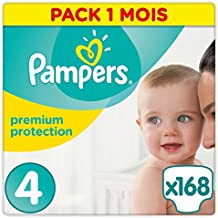 Pampers Premium Protection, 168 Pannolini, Taglia 4 (8-16 kg) - baby Care