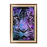 rawuin Tiger 5D Diamant Stickerei Gemälde Strass Kreuzstich Dekoration Craft (# 076)