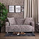 SSDLRSF Emboss Bestickte Sofa Abdeckung Luxus-Überzüge universelle Stretch Big Elastic-Sitz Couch deckt Loveseat Funiture (90-300cm), Silber, 1 Sitzer 90-140cm
